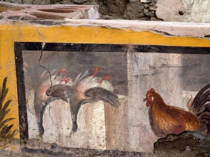 Archaeologists uncover ancient street food shop in Pompeii