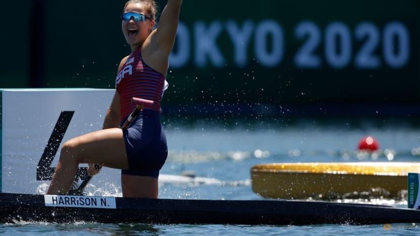 Olympics-Canoe sprint-American Harrison wins women's canoe single 200m gold
