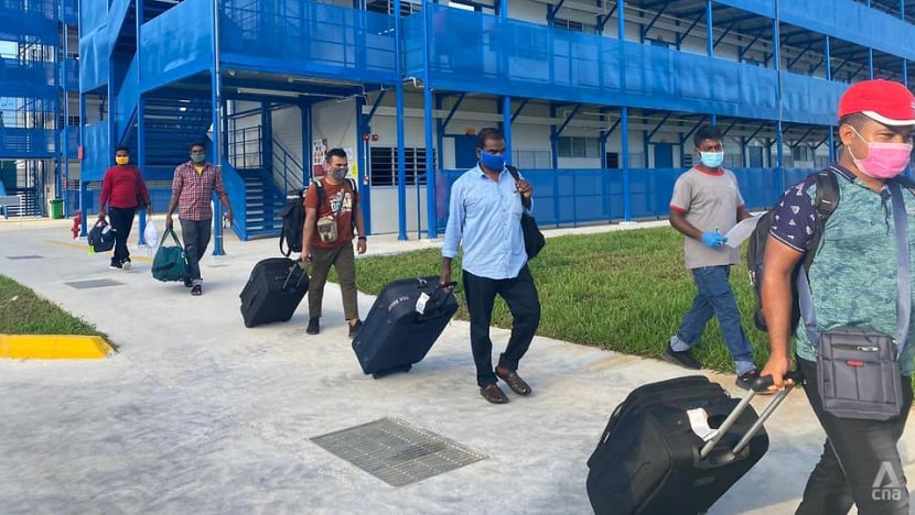 MOM unveils onboarding centre for new migrant workers; COVID-19 jabs to begin at 30 dorms