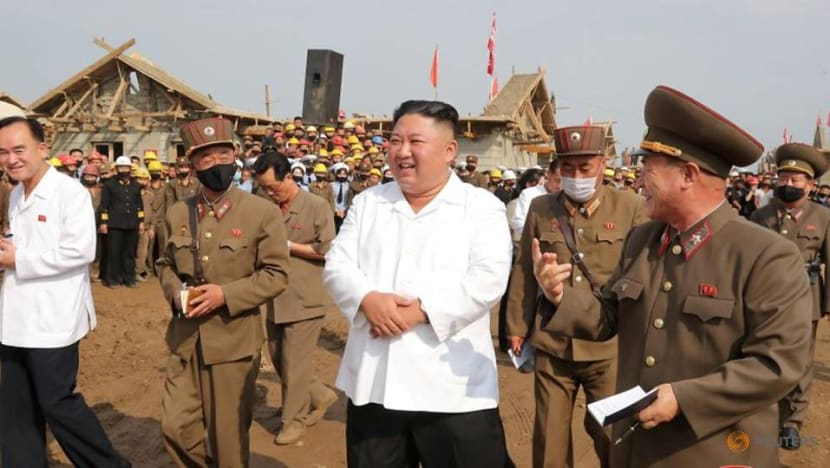 North Korea's Kim inspects reconstruction in flood-hit area: KCNA