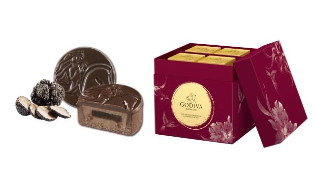 GODIVA巧克力脆皮月饼 东方传统糕点融合西方甜品工艺