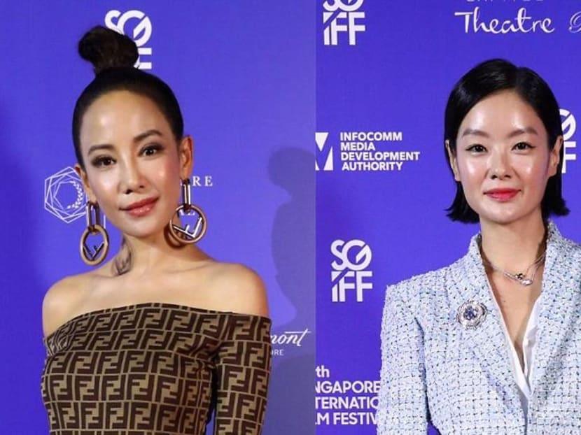 Fiona Xie, Sheila Sim walk the Singapore International Film Festival carpet
