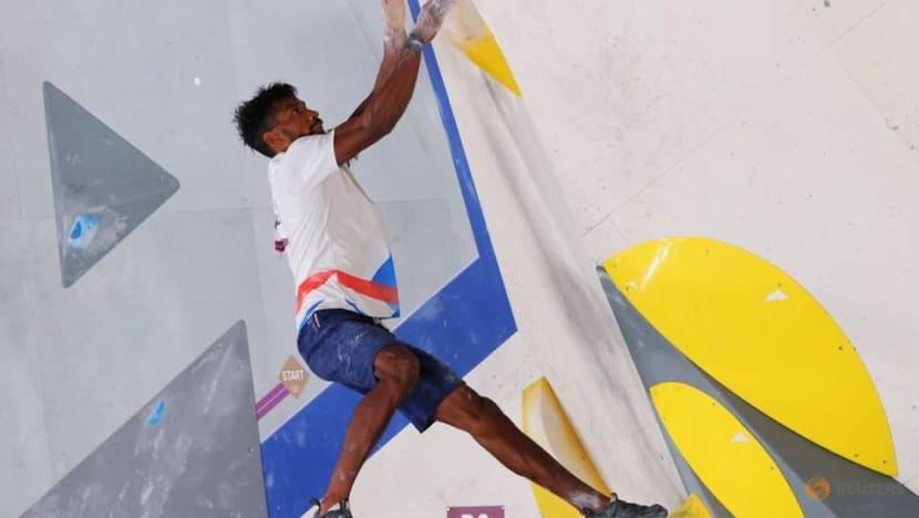 Olympics-Climbing-Injury forces France's Bassa Mawem out of men's final