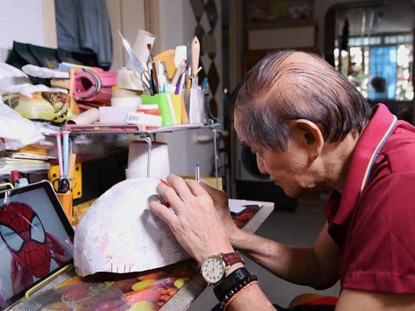 The retiree who creates Star Wars and Marvel models from recycled trash