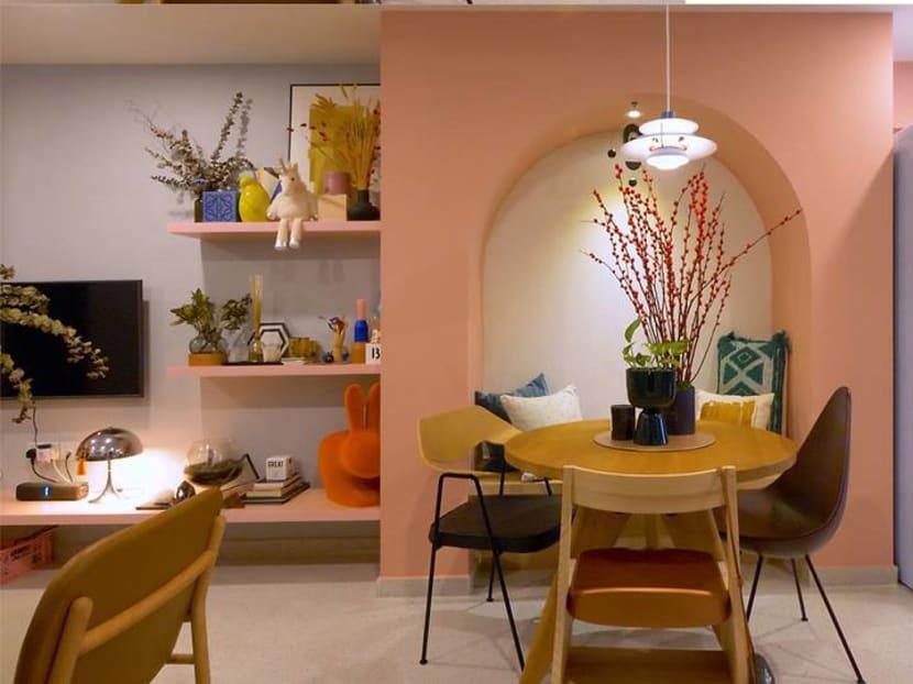 Transforming a 759 sq ft HDB flat into a colourful retro-modern wonderland