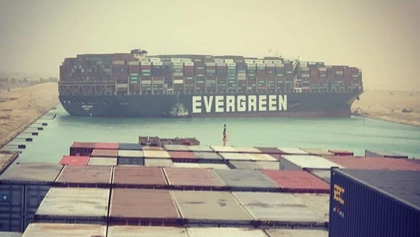 Suez Canal blocked by massive cargo ship
