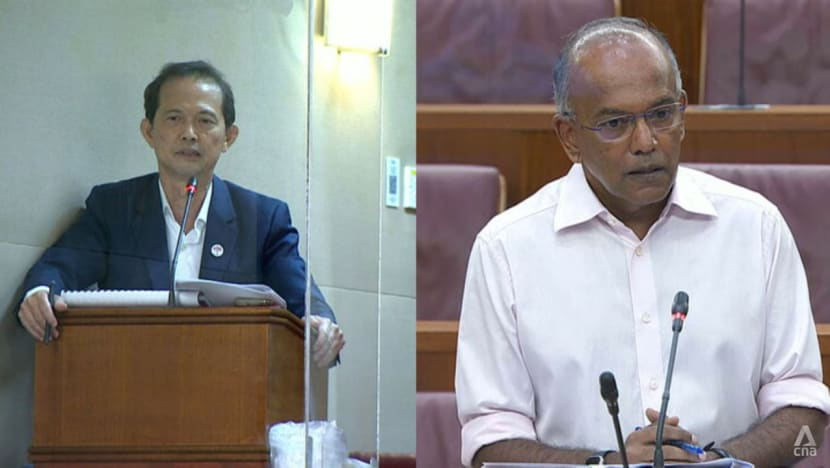 Shanmugam challenges PSP's Leong on foreign talent stance, says party is race-baiting