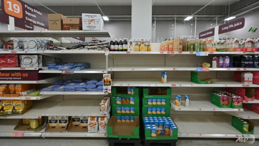 No milk or water: Shoppers face shortages at UK grocery stores