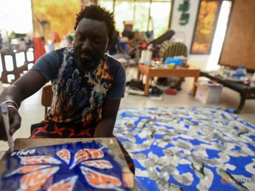 Senegalese artist Omar Ba tackles politics and the pandemic with paint