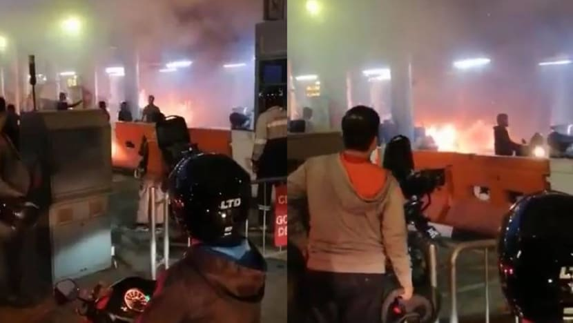 Motorcycle catches fire at Woodlands Checkpoint