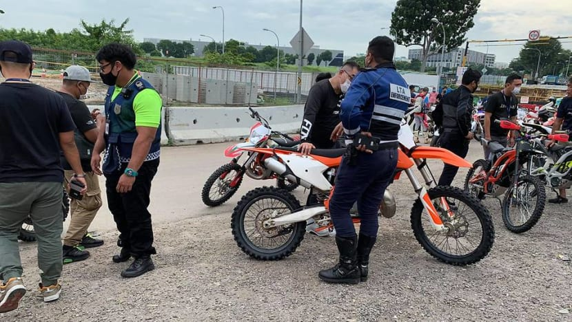 LTA impounds all-terrain vehicle and 7 unregistered motorcycles in Tampines