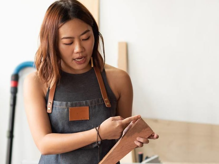 This Singaporean female carpenter turns wood into chic bags and jewellery
