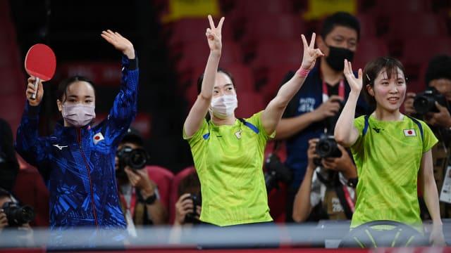 日本乒乓女团横扫香港队  料与中国会师决赛