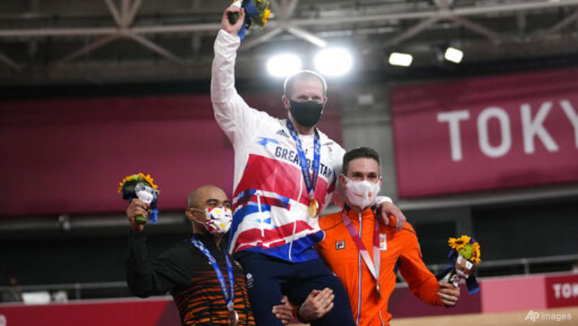 Cycling: Britain takes record-breaking gold, Malaysia takes silver in men's keirin