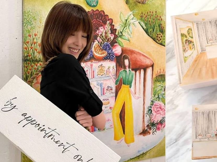 The artist who illustrates Jeanette Aw's packaging for her new patisserie is also her makeup artist