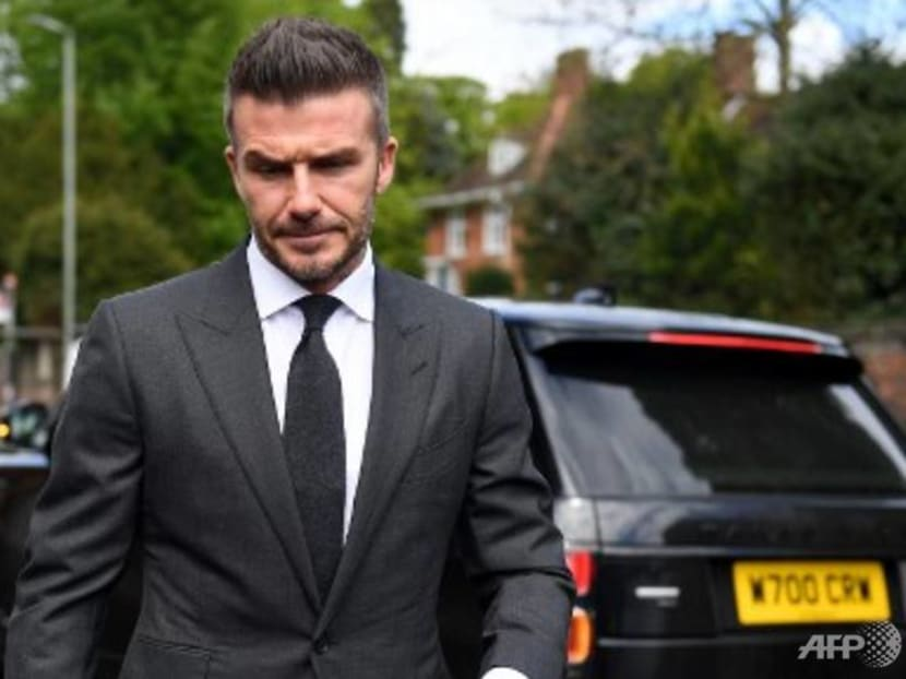 Hands off the wheel: David Beckham banned from driving