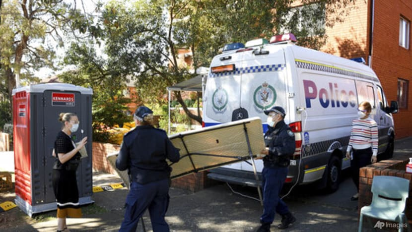 Australia reports record COVID-19 cases as police block Sydney protest