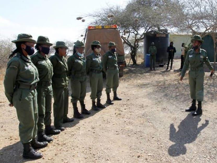 Kenyan all-female conservation ranger unit patrols amid COVID-19