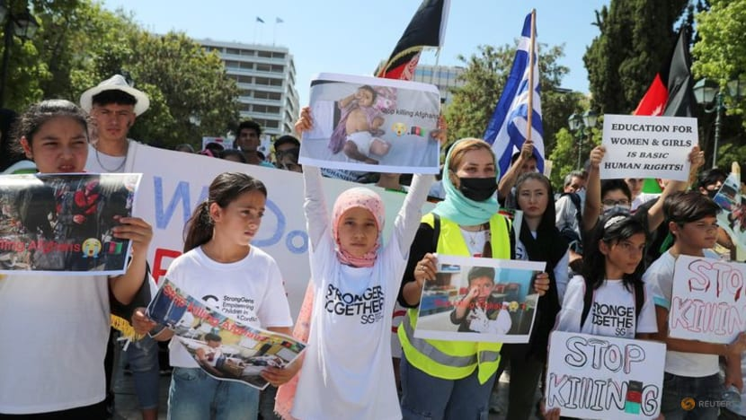 'We want peace from the world,' Afghans protest in Athens