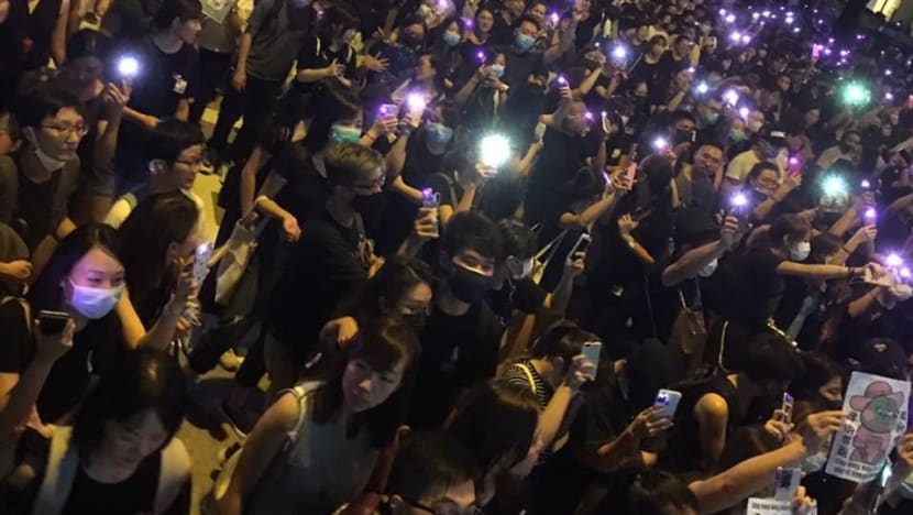 Thousands gather at Chater Garden in Hong Kong for #MeToo protest against police