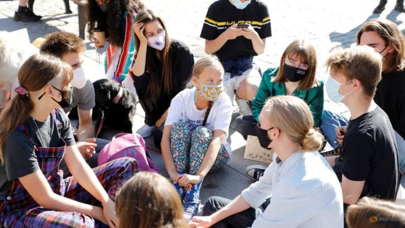 Thunberg protests in Stockholm on third anniversary of first school strike