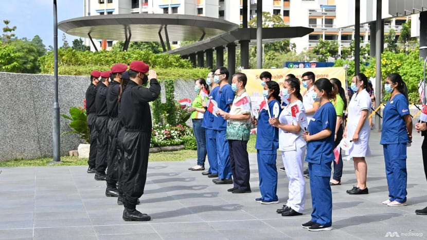 NDP 2020: Healthcare workers saluted as National Day Parade comes to the heartlands