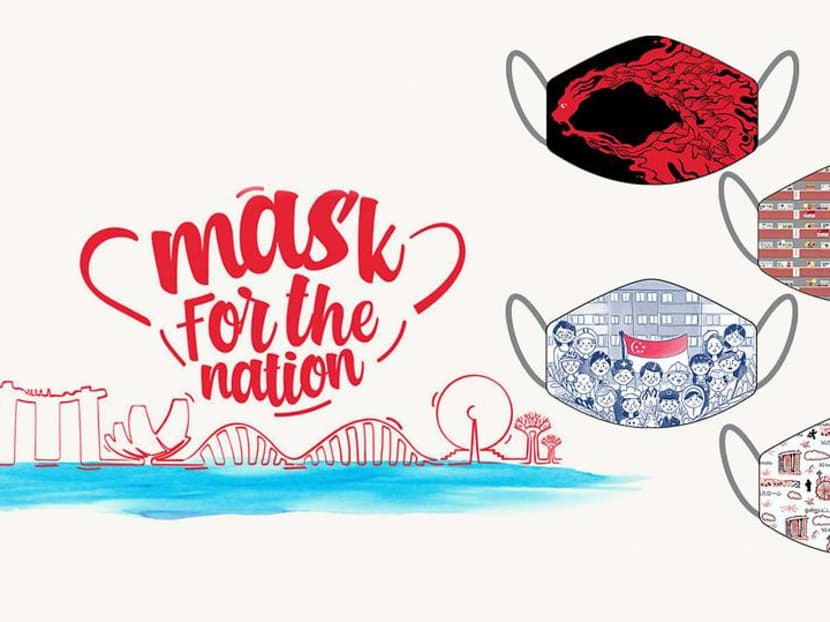 Help a good cause by wearing face masks from Mediacorp's design contest winners