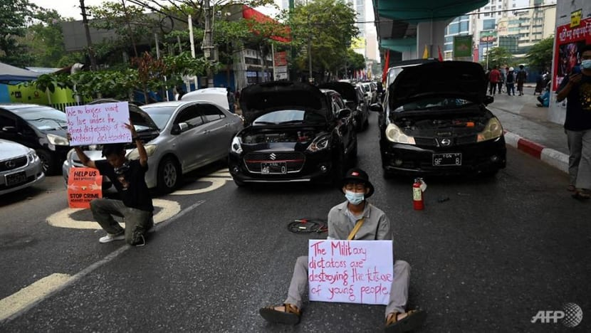 Myanmar protests stall fuel imports, drive up costs