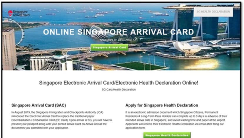 ICA warns of fake SG Arrival Card website, police report made