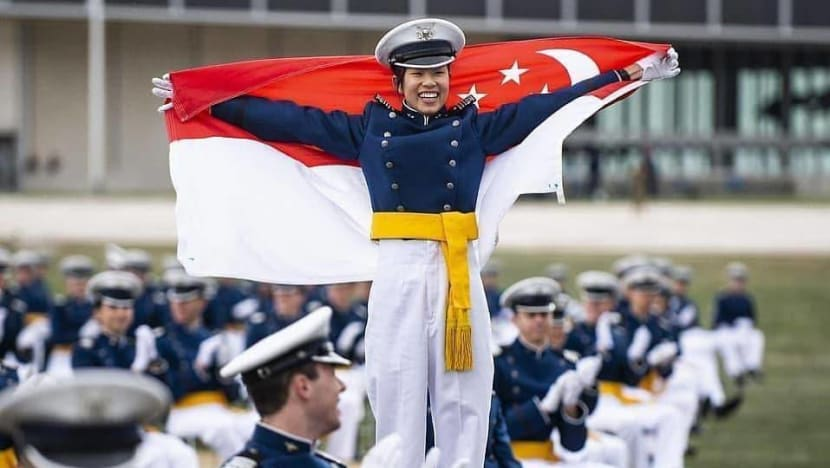 From jumping off a plane to leading 1,000 cadets: RSAF officer among top US Air Force Academy graduates