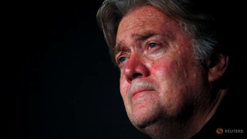 Steve Bannon, architect of Trump's 2016 win, charged with defrauding border-wall donors
