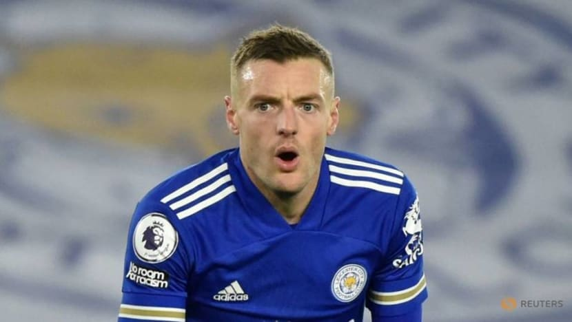 Football: Leicester's Vardy to return in 10 days after hernia operation, says Rodgers
