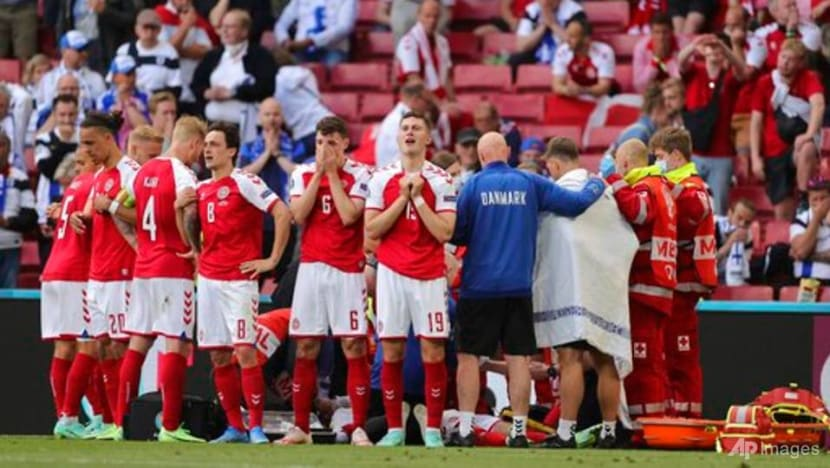 Football: Denmark's Christian Eriksen 'awake' in hospital after collapse in Euro 2020 game