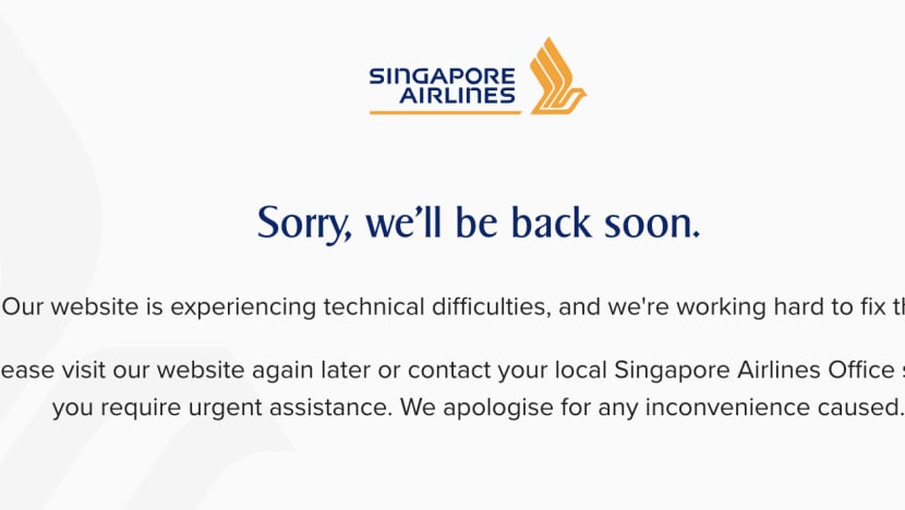 Singapore Airlines website hit by 'technical difficulties' after announcement on vaccinated travel lanes