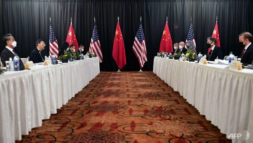 US says China actions 'threaten' global stability at meeting between the countries