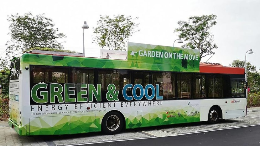 Buses with rooftop gardens to ply Singapore's roads