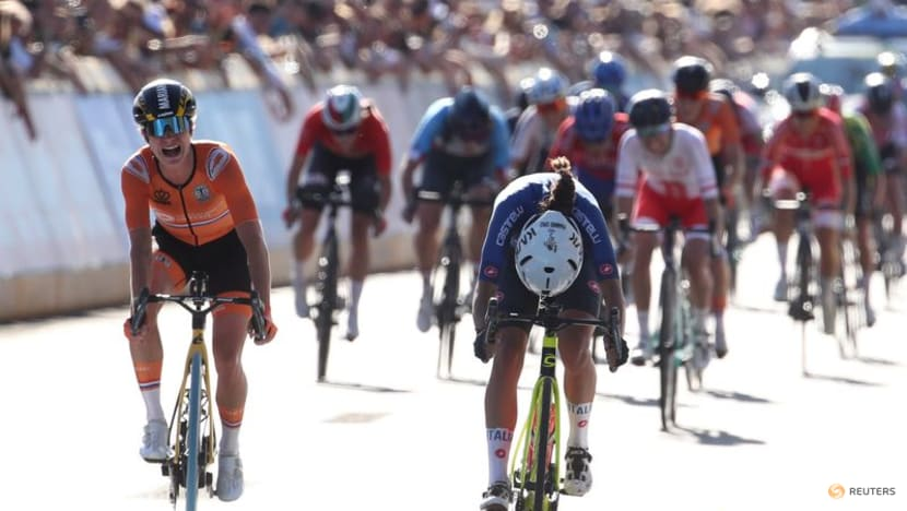 Italy's Balsamo pips Vos to win road race world title