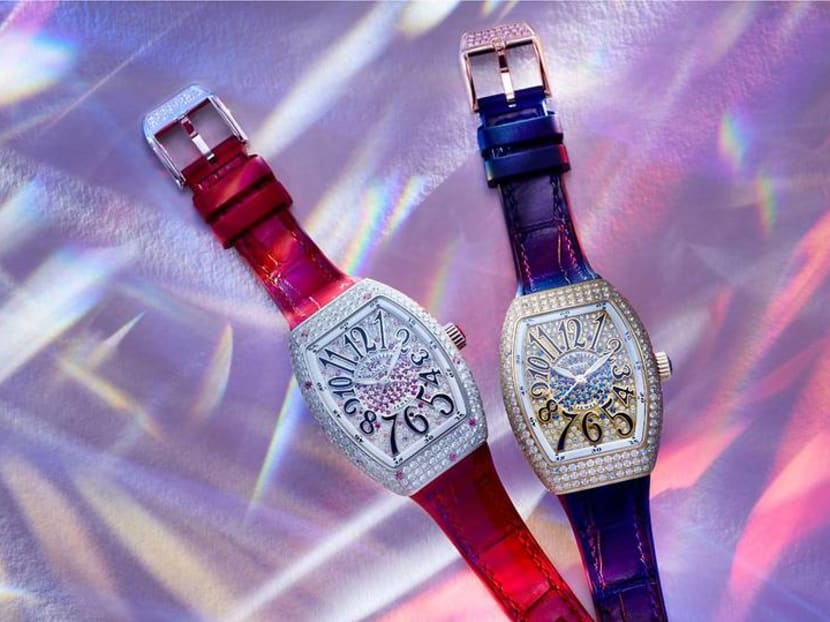 This dazzling Swiss mechanical watch is made exclusively for Asian countries