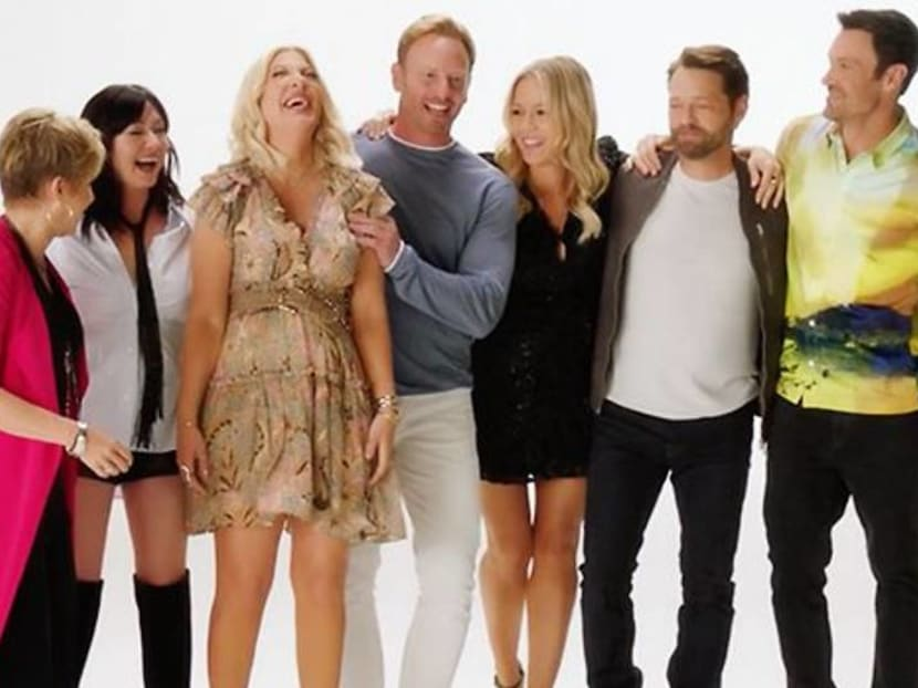 Watch: The cast of BH90210 recreate opening credit of original 90s series