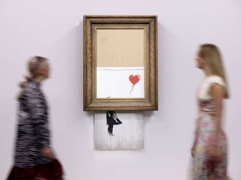 Three years on, shredded Banksy artwork returns to auction
