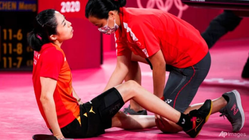 Injured in Olympic semi-finals, but Singapore's Yu Mengyu vows to battle on