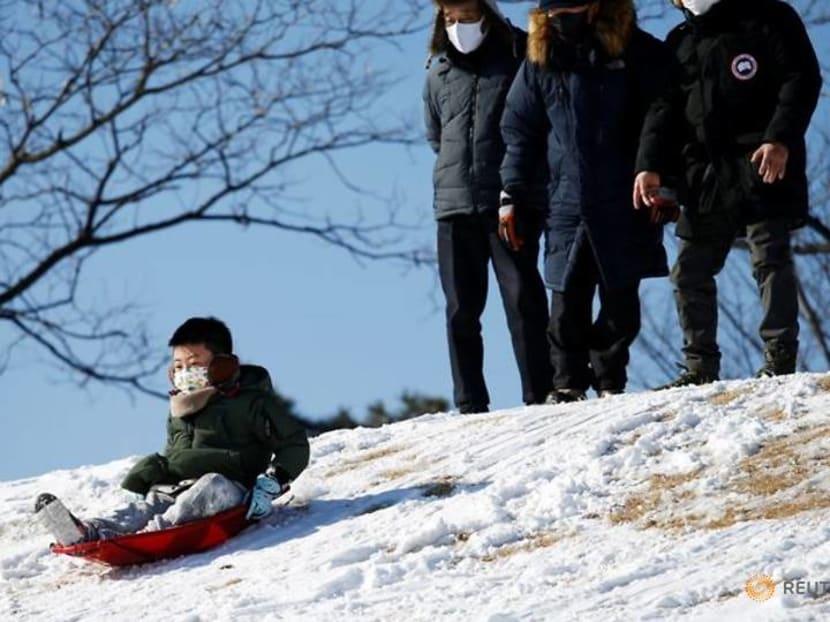 Can't go to ski resort? South Koreans rush to buy sledges, enjoy sledding near home