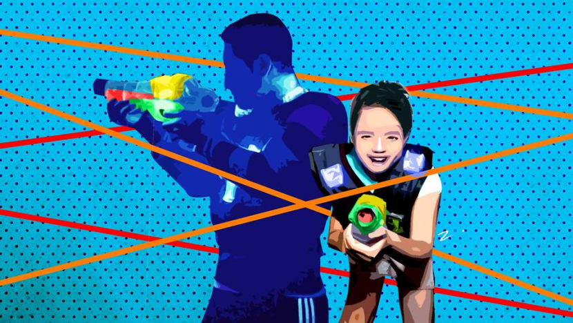 What are the life lessons to be learned while playing laser tag with your children?