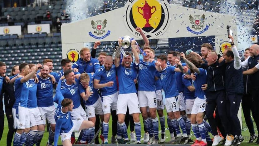 Soccer-St Johnstone complete unlikely Scottish Cup double