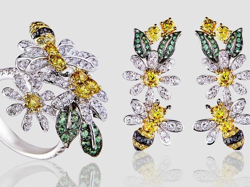 Buzzworthy baubles: The Vivid Bee collection is an ode to yellow diamonds