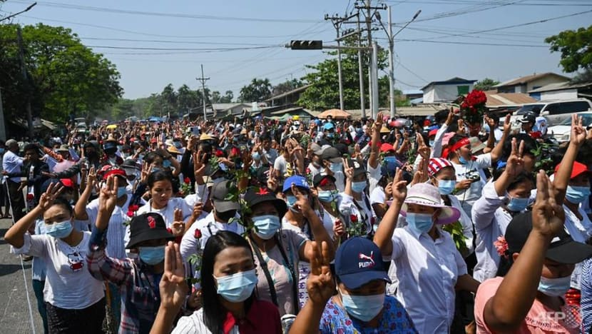 Myanmar security forces fire live rounds at protesters