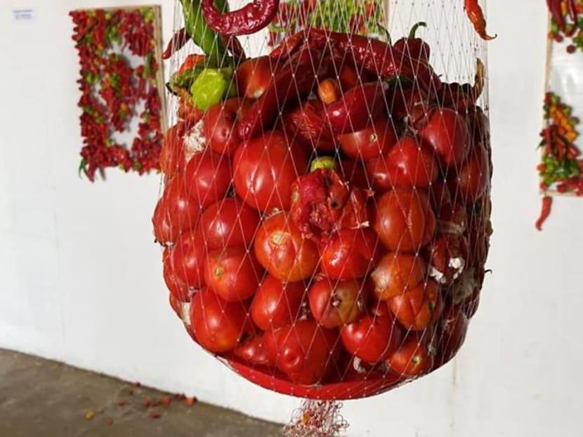 Nigerian artist creates rotting exhibit as coronavirus warning