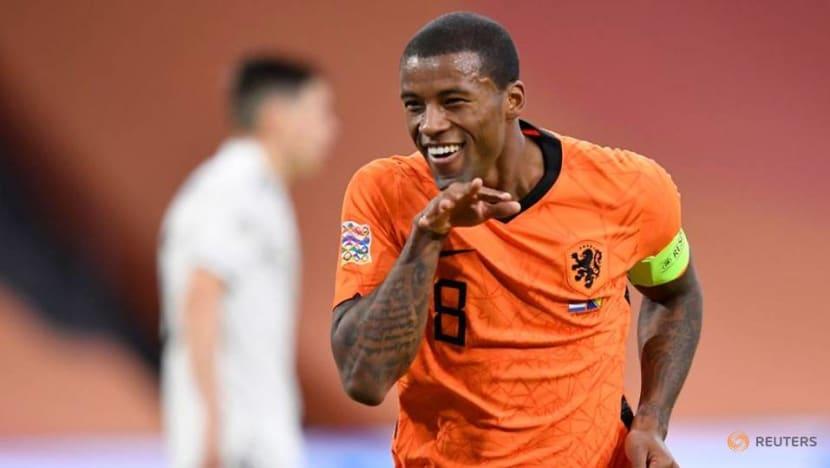 Football: Wijnaldum double sets Dutch on the way to win over Bosnia