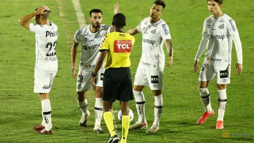 Soccer-Santos score in stoppage time to deny Bragantino win in Brazil