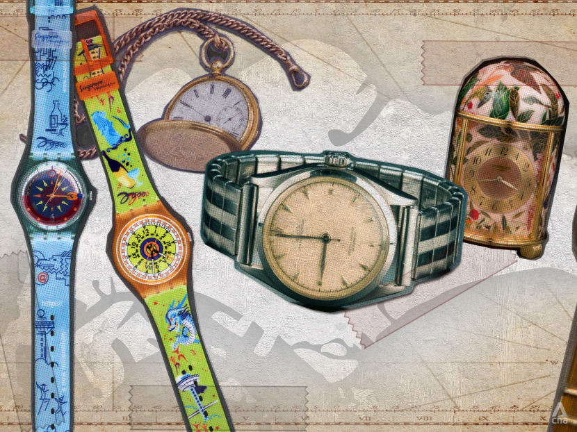 Which are the most significant timepieces in Singapore's history?